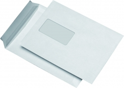 Versandtaschen C5, mit Fenster, haftklebend, 90 g/qm, weiß, 500 Stück