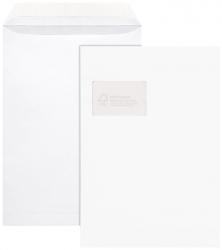 Versandtaschen - C4, mit Fenster, 100 g/qm, 100 Stück, haftklebend