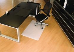 BSM Bodenschutzmatte milchig für glatte/harte Böden - Form 0, 120 x 90 cm