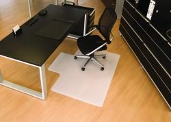 BSM Bodenschutzmatte milchig für glatte/harte Böden - Form L, 120 x 150 cm