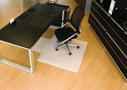 BSM Bodenschutzmatte milchig für Teppichböden - Form U, 120 x 130 cm