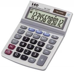 Tischrechner LEO DK-238T, weiß, 12-stellig
