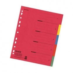 Zahlenregister - 1-5, Karton farbig, A4, 5 Farben, gelocht mit Orgadruck