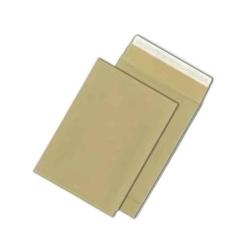 Faltentaschen C4, ohne Fenster, mit 40 mm-Falte, 120 g/qm, braun, 100 Stück