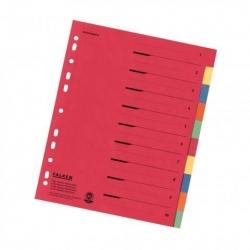 Zahlenregister - 1-10, Karton farbig, A4, 5 Farben, gelocht mit Orgadruck