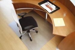 Roll-O-Mat Bodenschutzmatte für normalflorige Teppichböden - Form 0, 120 x 90 cm