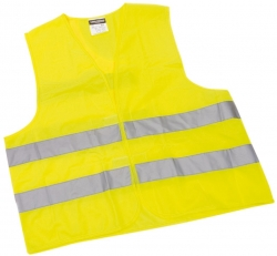 Pannen-Warnwesten - Klettverschluß - gelb