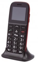 Handy Komfort Mobiltelefon mit Großtasten - schwarz