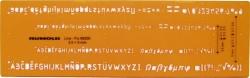 Schriftschablone - Schrifthöhe 0,35 mm und 0,5 mm