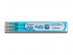Tintenrollermine, Frixion 2264, BLS-FRP5-S3, 0,3 mm, hellblau, 3St im Etui