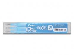 Tintenrollermine für FriXion Clicker - 0,3 mm, hellblau, 3er Set