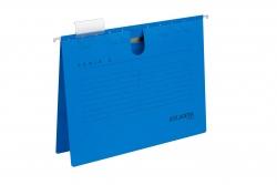 Hängehefter Serie E, A4 UniReg kfm. Heftung, blau, Kraftkarton 230 g/qm