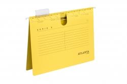 Hängehefter Serie E, A4 UniReg kfm. Heftung, gelb, Kraftkarton 230 g/qm