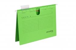 Hängehefter Serie E, A4 UniReg kfm. Heftung, grün, Kraftkarton 230 g/qm