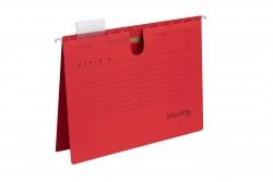 Hängehefter Serie E, A4 UniReg kfm. Heftung, rot, Kraftkarton 230 g/qm