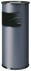 Standascher mit Sandschale METALL rund, 260x620mm (ØxH), 17 l, anthrazit