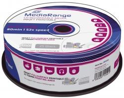 CD-R Rohlinge - 700MB/80Min, 52-fach/Spindel,bedruckbar, Packung mit 25 Stück
