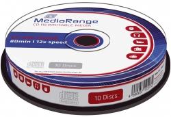 CD-RW Rewritables - 700MB/80Min, 12-fach/Spindel, Packung mit 10 Stück