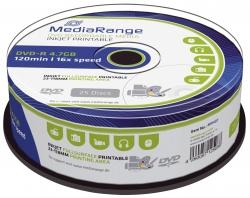 DVD-R - 4.7GB/120Min, 16-fach/Spindel, bedruckbar, Packung mit 25 Stück