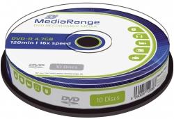 DVD-R - 4.7GB/120Min, 16-fach/Spindel, Packung mit 10 Stück