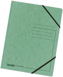 Eckspanner A4 Colorspan - intensiv grün, Karton 355 g/qm