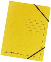 Eckspanner A4 Colorspan - intensiv gelb, Karton 355 g/qm