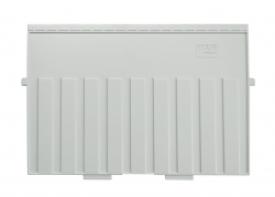 Stützplatte A4 quer, für Karteitröge und -kästen, lichtgrau